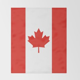 Red and White Canadian Flag Throw Blanket