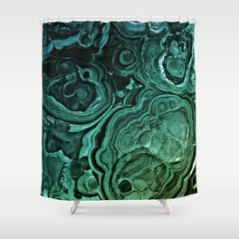 MALACHITE GREEN Shower Curtain