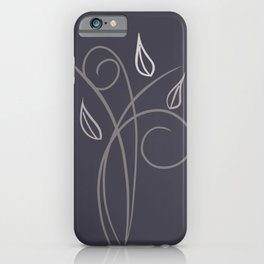 Floral Whimsy Charcoal  iPhone Case
