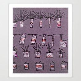 Plants and cloths Art Print
