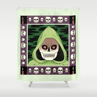death Shower Curtains featuring Death  by Jack Teagle