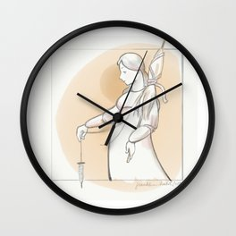Saint Distaff's Day Wall Clock