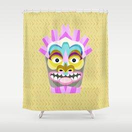 Aloha Tiki Mask Shower Curtain