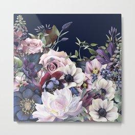 Dutch Style - Dark Moody Floral Metal Print