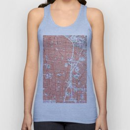 Vintage Map of South Gate California (1964) Unisex Tank Top