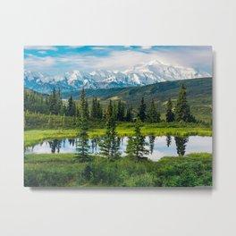 alaska_range_beautiful_mountain_landscape- Metal Print