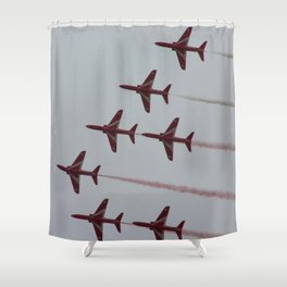 Royal Air Force Fighter Planes In Formation Shower Curtain