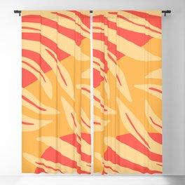 Orange Botanical Pattern Blackout Curtain