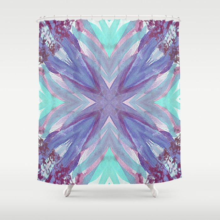 Watercolor Abstract Shower Curtain