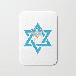 Happy Llamakah Jew And Christmas Person Gift Bath Mat