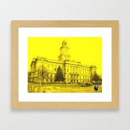 Des Moines, IA Court house Framed Art Print