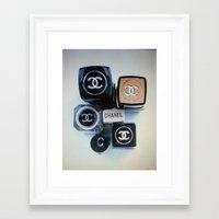 lipstick Framed Art Prints featuring lipstick by ilovepillows