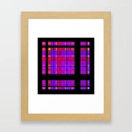 Unicorn Plaid Squares Framed Art Print