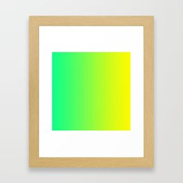 Yellow and Cold-Green Gradient 008 Framed Art Print