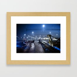 By the trains Framed Art Print