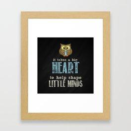 Big heart blue Framed Art Print