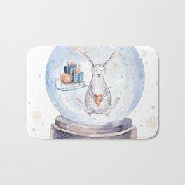 Christmas bunny #3 Bath Mat