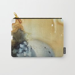 Abstract in umber and grey Carry-All Pouch
