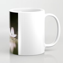 Night photograph of the Marina Bay Sands Hotel in Singapore Coffee Mug