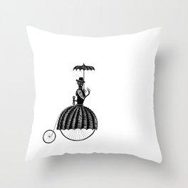 Mrs Farthing in the Corner Throw Pillow