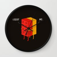 ilovedoodle Wall Clocks featuring I'll never le go by I Love Doodle