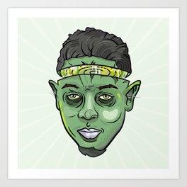 Kendrick Lamar Yoda Art Print