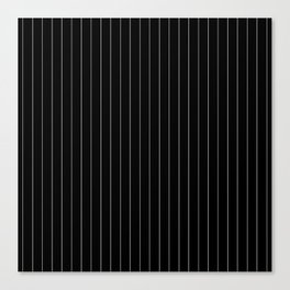 Black White Pinstripes Minimalist Canvas Print
