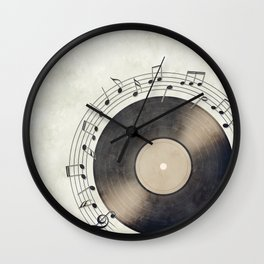 Vinyl Music Collection Wall Clock