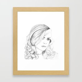 Billie Piper Graphite Drawing Framed Art Print