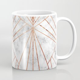 Art Deco Marble & Copper - Large Scale Coffee Mug