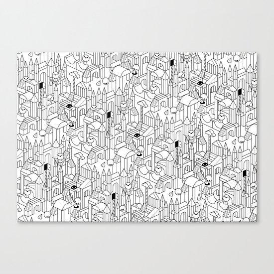 Little Escher's Building Blocks Canvas Print