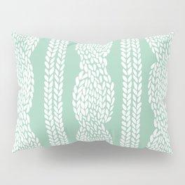 Cable Mint Pillow Sham