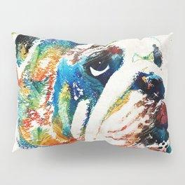 Bulldog Pop Art - How Bout A Kiss - By Sharon Cummings Pillow Sham