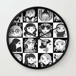 ALL THE GIRLS / B&W VERSION Wall Clock