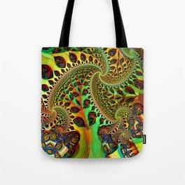 the fractal tree Tote Bag