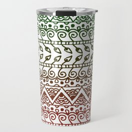 Holiday Henna Pattern Travel Mug