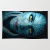avatar Area & Throw Rugs featuring Avatar by Karel Stepanek