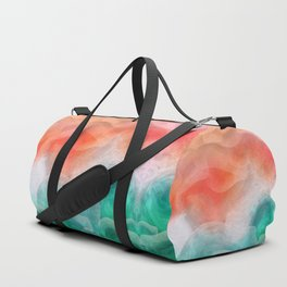"""""""Coral sand beach and tropical turquoise sea"""" Duffle Bag"""