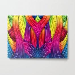 Muster - farbenfroh Metal Print