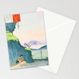 Kobayashi Kiyochika - Sketches of the Famous Sights of Japan - Satta Pass - Digital Remastered Edition Stationery Cards