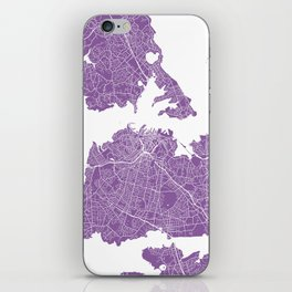 Auckland map lilac iPhone Skin