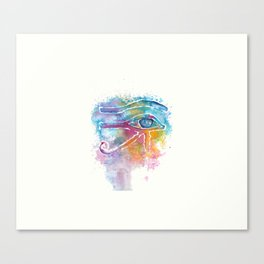 Eye of Horus Watercolor Illustration Canvas Print