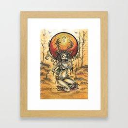 Zombie Jagger Girl Framed Art Print