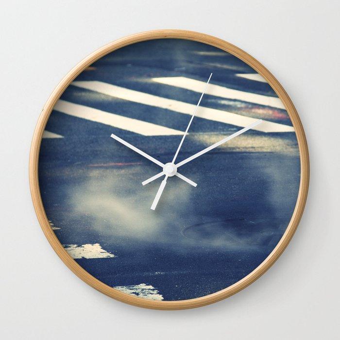 Street Smoke Wall Clock