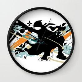 ninja#3 Wall Clock