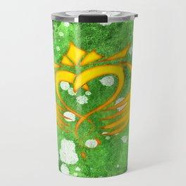 Claddagh Irish Celtic Splatter Travel Mug