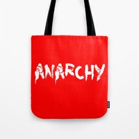 anarchy Tote Bags featuring ANARCHY by lucborell