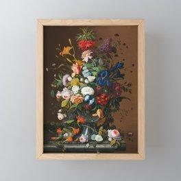 Flower Still Life with Bird's Nest, 1853 Framed Mini Art Print