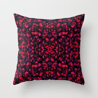 crystals Throw Pillows featuring Crystals  by Claudia Owen