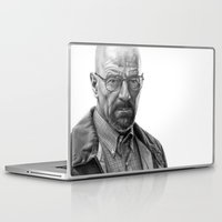 walter white Laptop & iPad Skins featuring Walter White by robo3687